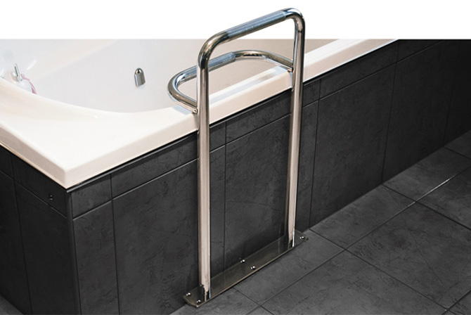 Hardware direct superquip stainless steel bath safety grab rail for Commercial bathroom fixtures stainless steel