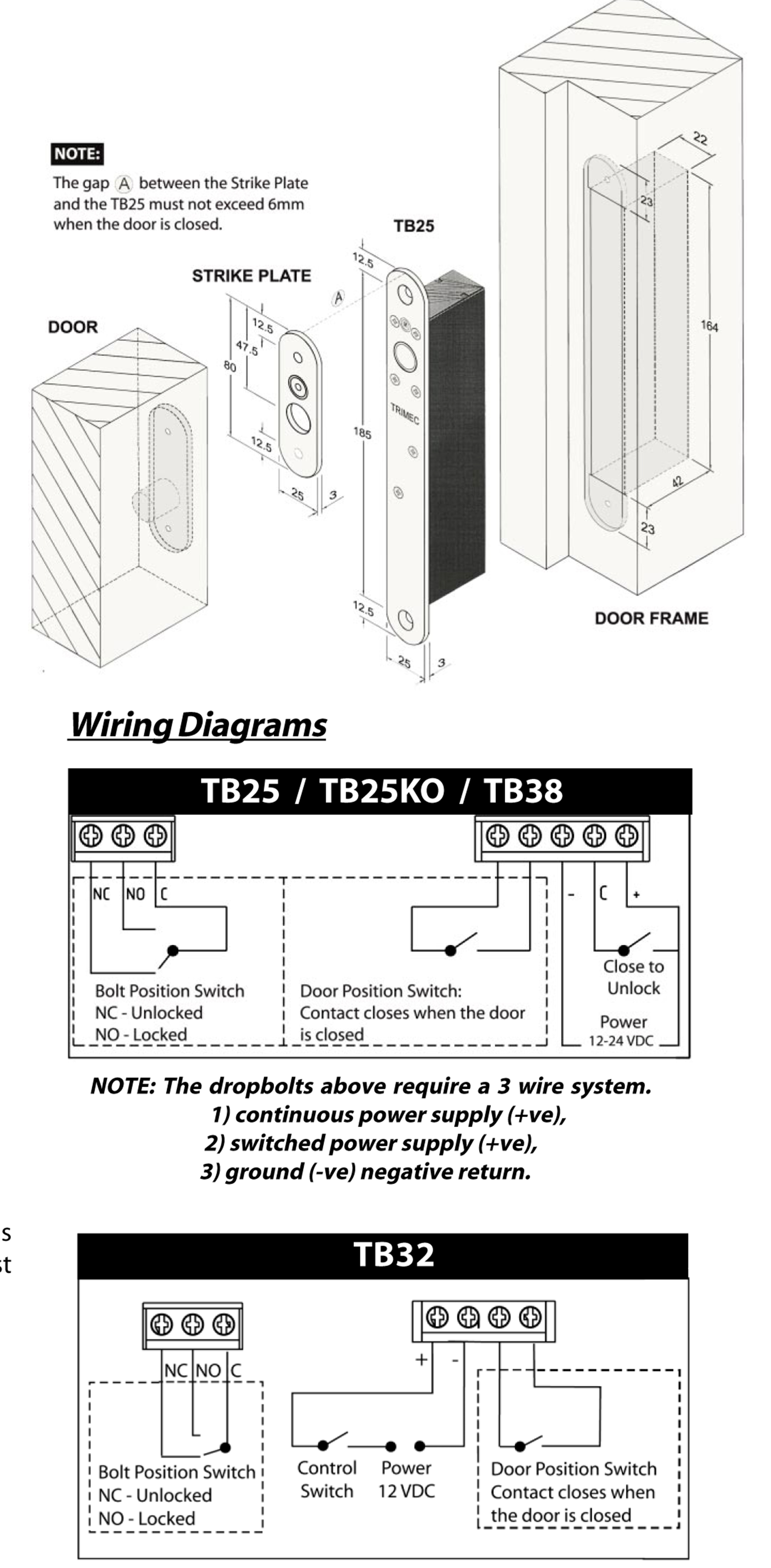 Hardware Direct Assa Abloy Trimec Drop Bolts A Wiring Diagrams How To Install